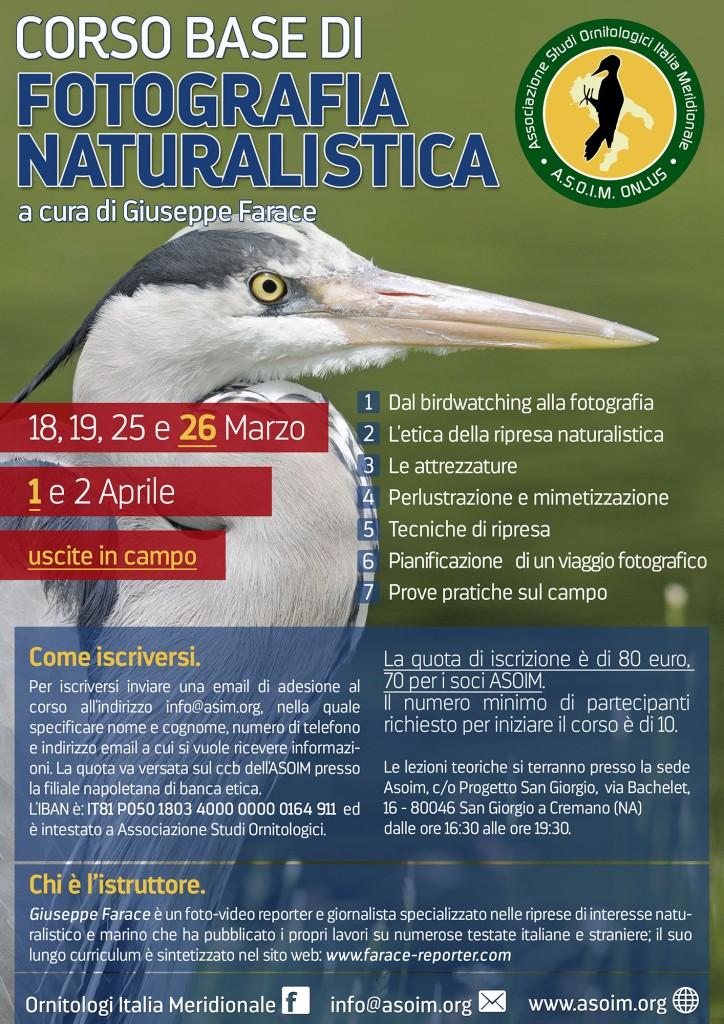 Terzo Corso di Fotografia naturalistica ASOIM - Locandina