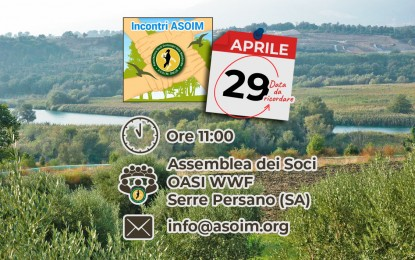 Assemblea SOCI – 29 aprile 2018 – Oasi WWF Serre Persano